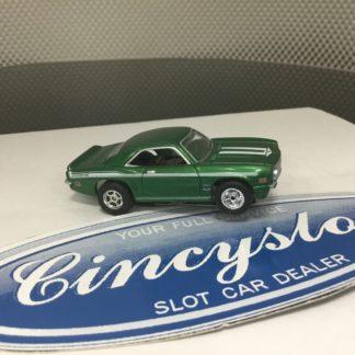 AUTOWORLD FAST & FURIOUS CHEVY CAMARO YENKO GREEN HO SLOT CAR. NEW.