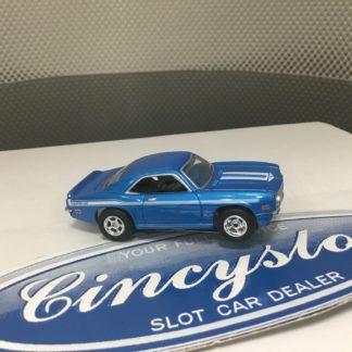 AUTOWORLD FAST & FURIOUS CHEVY CAMARO YENKO BLUE HO SLOT CAR. NEW.