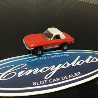 AutoWorld Classic Corvette Red Thunderjet T-Jet HO Slot Car.