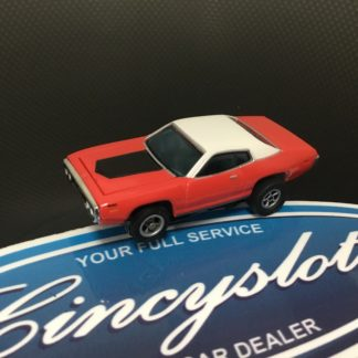 AutoWorld Classic Dodge Charger Red HO Slot Car.