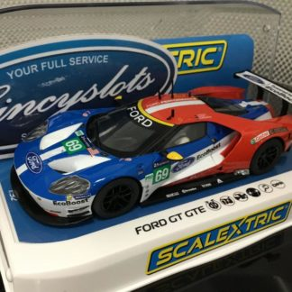 Scalextric C3858 Ford GT GTE #69 Le Mans 2017 1/32 Slot Car.