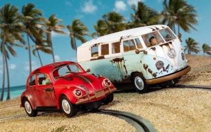Scalextric C3966A VW Beetle and Camper Van 1/32 Slot Car.