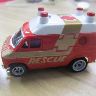 AFX Red Dodge Rescue Van 4gear. Looks New.