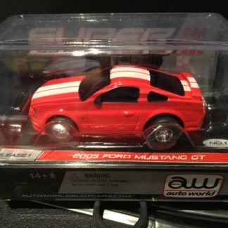 AutoWorld 2005 Mustang GT RED Super lll HO Slot Car.