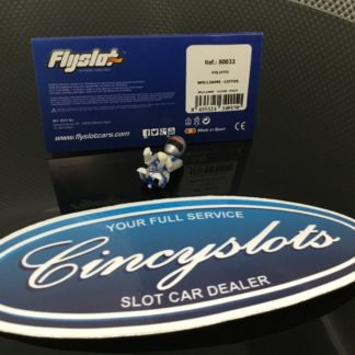 FlySlot 80033 F1 Pilot Driver. Back is Cut Out 1/32. Mario Andretti Helmet.
