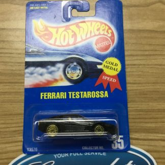 Hot Wheels Ferrari Testarossa Black Collector # 35.