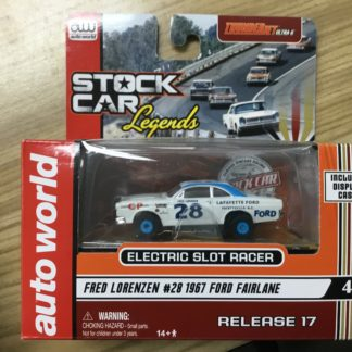 Auto World Stock Car Legends Fred Lorenzen Ford HO Scale SC311.