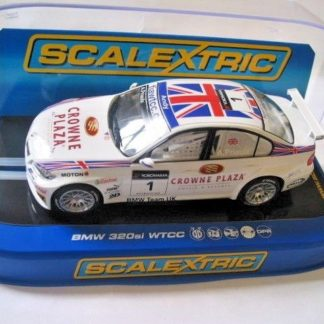 Scalextric C2714 BMW 320si WTCC Priaulx Crown Plaza 1/32 Slot Car.
