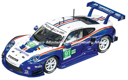 Carrera D132 30891 Porsche 911 RSR #91 1/32 Slot Car.