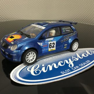 Power Slot 86961 VW Polo Blue 1/32 Slot Car.