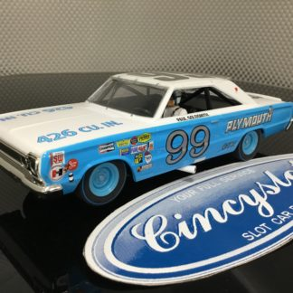 Monogram Revell 85-4843 Plymouth GTX Goldsmith Nascar 1/32 Limited Edition Slot Car.