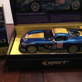 Scalextric C2522A Dodge Viper Sport #22 3-R Racing 1/32 Slot Car.