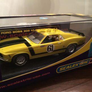 Scalextric C2760 1971 Mustang Dan Furey #61 1/32 Scale Slot Car.