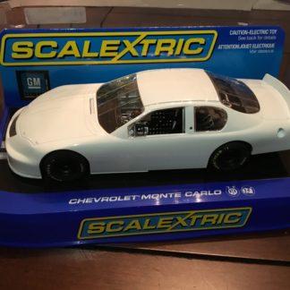 Scalextric C2605 Chevrolet Monte Carlo Plain White. 1/32 Slot Car.