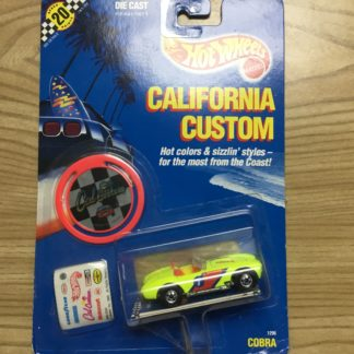 Hot Wheels California Custom Cobra 1296 1989.