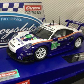 Carrera D132 30891 Porsche 911 RSR #91 1/32 Slot Car.