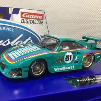 Carrera D132 30898 Porsche Kremer 935 Vaillant #51 1/32 Slot Car.
