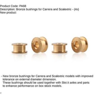 Slot.it PA68 Bronze Bushing for 3/32 Axles 4pcs.