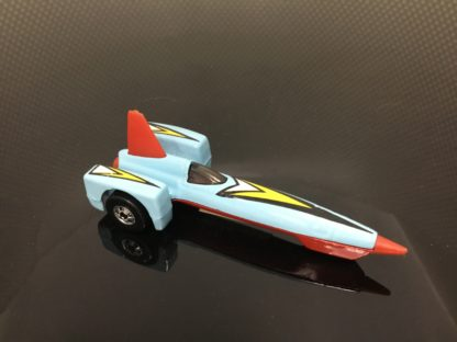 Hot Wheels Baby Blue Rocket car Box 3.