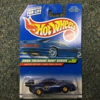 Hot Wheels 2000 Treasure Hunt PIKES PEAK CELICA #9 of 12 w/ Real Riders.