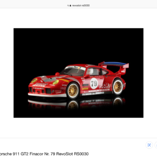 RevoSlot RS0031 Finacor Porsche GT2 1/32 Slot Car.