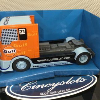 Scalextric C4089 Gulf Racing Truck 1/32 Slot Car.