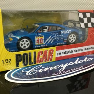 Policar PCAR03C Ferrari F40 Pilot 2nd Place at Silverstone in 1995. 1/32 Slot Car.