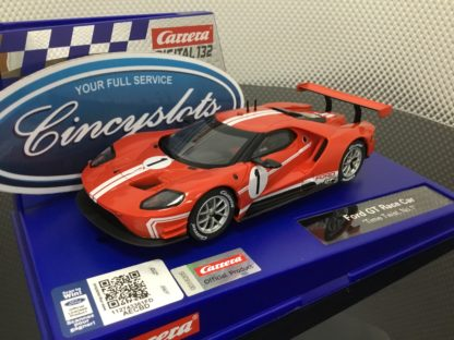 Carrera D132 30873 Ford GT Time Twist #1 1/32 Scale Slot Car.