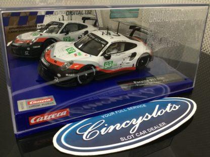 Carrera D132 30890 Porsche 911 RSR GT Team #93 Slot Car.