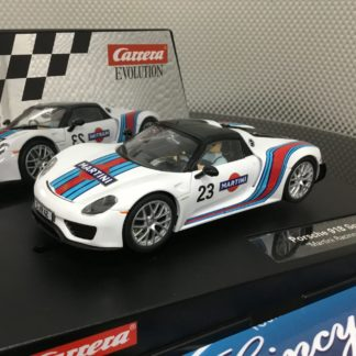 Carrera Evolution 27467 Porsche 918 Spyder Martini Racing, Lightly Used.