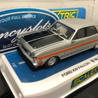 Scalextric C4037 Ford XW Falcon Silver Fox. 1/32 Slot Car.
