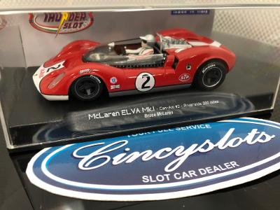 ThunderSlot CA00402SW McLaren ELVA Mk.I Can Am 1/32 Slot Car.