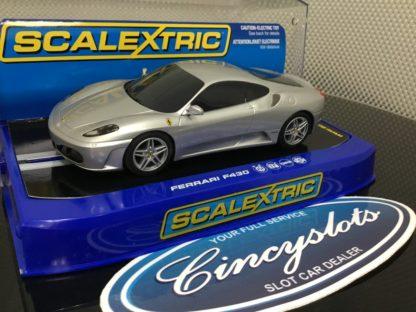 Scalextric C2874 Ferrari F430 Silver, Lightly Used.
