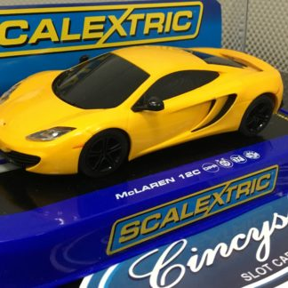 Scalextric C3278 McLaren 12C Yellow Used.