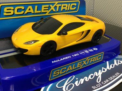 Scalextric C3278 McLaren 12C Yellow Used.