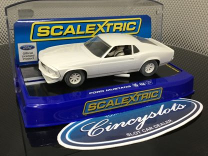 Scalextric C2450 Ford Mustang White, Lightly Used.