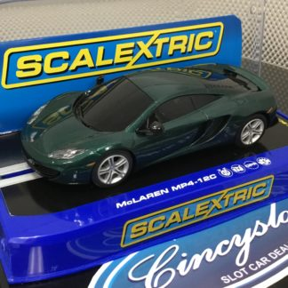 Scalextric C3273 McLaren MP4-12C Green, Lightly Used.