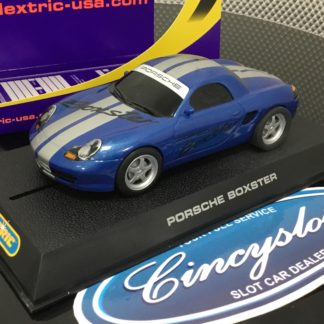 Scalextric C2737 Porsche Boxster Blue Used.
