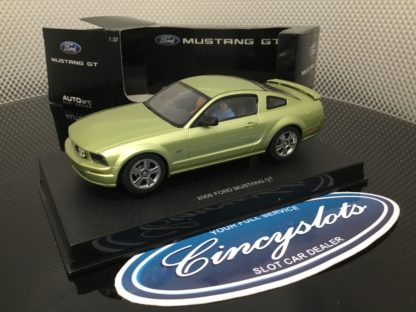 Autoart 13051 Ford Mustang Legend Lime, Lightly Used.