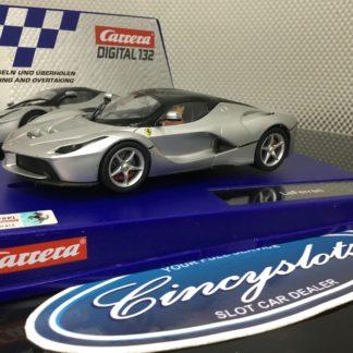 Carrera D132 30712 Ferrari LaFerrari Silver, Used.