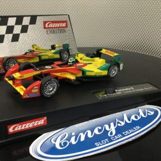 Carrera D132 Evolution 30705/27502 Formula E Grassi, Lightly Used.