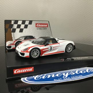 Carrera D132 Evolution 30711/27477 Porsche Spyder 918, Lightly Used.
