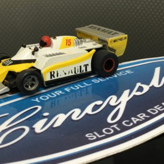TYCO Renault #15 Indy F1 HO SLOT CAR. USED WORKING