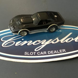 AFX Chevrolet Corvette Black/Silver Custom, Used