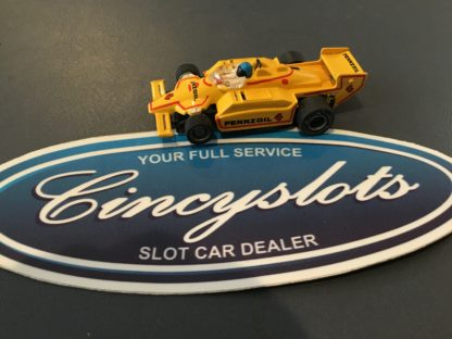 TYCO Indy Chaparral Pennzoil Yellow/Red #4 HO SLOT CAR Lightly Used