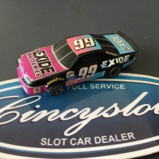 Lifelike HO Nascar NEW Exide Batteries #99. HO Slot Car.