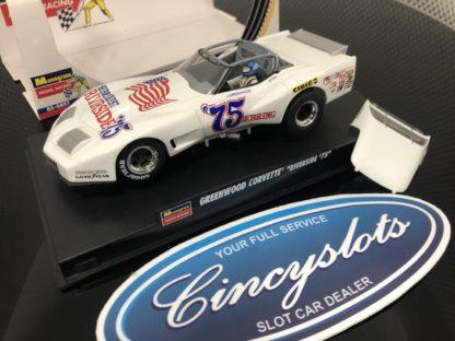 Monogram Revell 4857 Greenwood Corvette #75 Convert. 1/32 Slot Car. Lightly Used in Box.