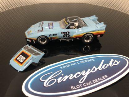 Monogram Revell 4864 Mancuso Greenwood Corvette #76 No Box Top Removed.