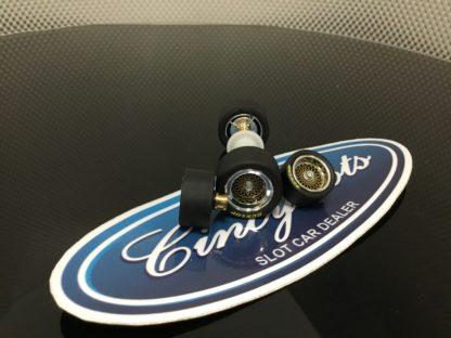 Carrera D132 Ford Capri Axle and Tire Set. NEW TAKEOFF 89949 89956.