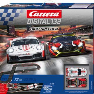 Carrera D132 30003 High Speeder Slot Car Set.